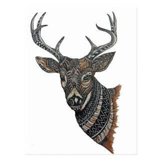 Cartão Postal Fanfarrão dos cervos com design intrincado