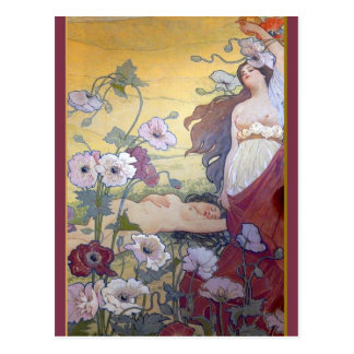 Cartão Postal Fantasia 1 de Nouveau da arte