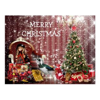 Cartão Postal Fantasia chique Postcart do Feliz Natal feliz