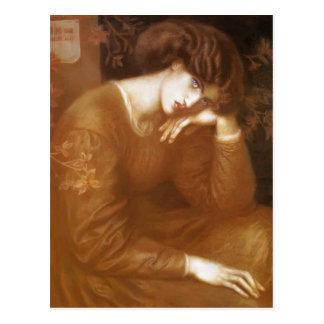Cartão Postal Fantasia de Dante Gabriel Rossetti-