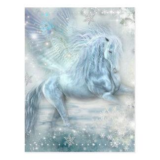 Cartão Postal Fantasia Pegasus do gelo