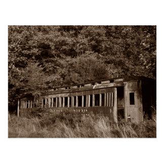 Cartão Postal Fantasma do ~ do carro de comboio de passageiros