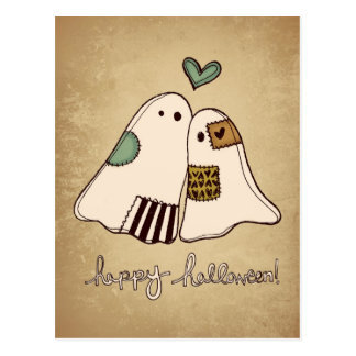 Cartão Postal fantasmas felizes do Dia das Bruxas