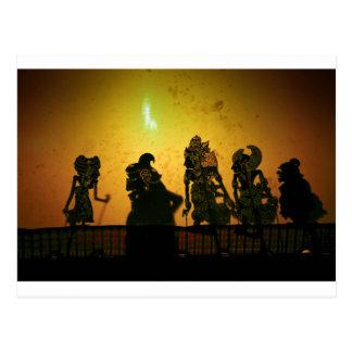 Cartão Postal Fantoches da sombra de Bali