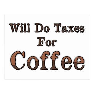 Cartão Postal Fará impostos para o café