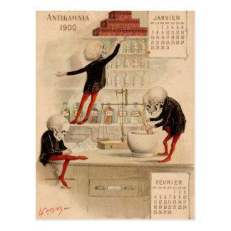 Cartão Postal Farmácia esqueletal