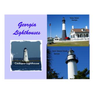 Cartão Postal Faróis de Geórgia