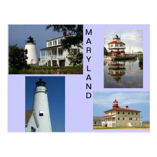 Cartão Postal Faróis de Maryland