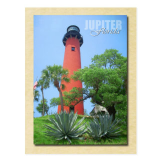 Cartão Postal Farol da entrada de Jupiter & museu, Florida
