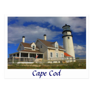 Cartão Postal Farol das montanhas, Cape Cod Truro