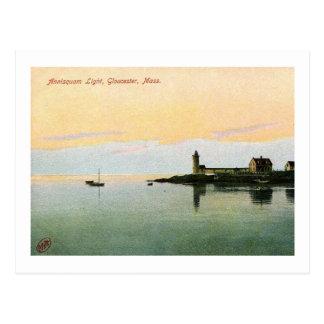 Cartão Postal Farol de Annisquam, Gloucester, vintage das MÃES