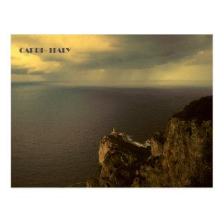 Cartão Postal Farol de Capri - de Punta Carena