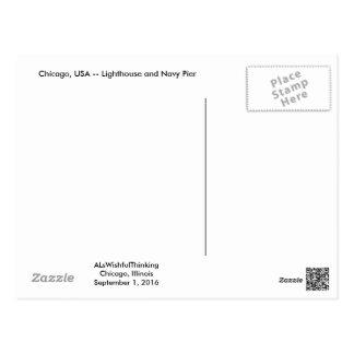 Cartão Postal Farol de Chicago
