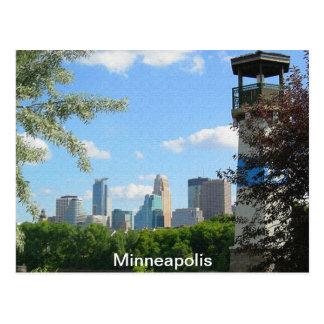 Cartão Postal Farol de Minneapolis e de ilha do crescimento
