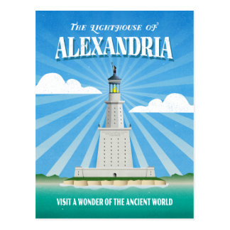 Cartão Postal Farol de Pharos de Alexandria