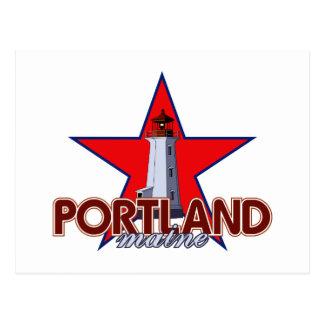 Cartão Postal Farol de Portland