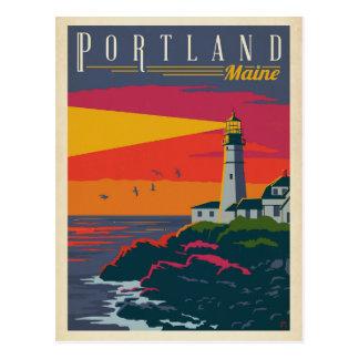 Cartão Postal Farol de Portland, Maine  