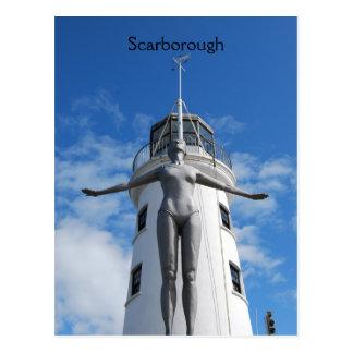Cartão Postal Farol de Scarborough