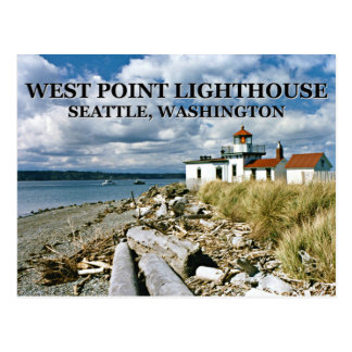 Cartão Postal Farol de West Point, Seattle Washington