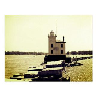 Cartão Postal Farol do Lago Erie