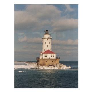 Cartão Postal Farol do Lago Michigan