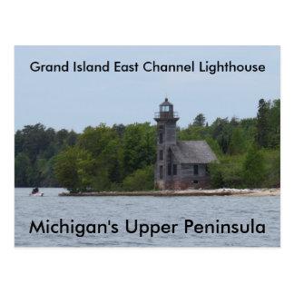 Cartão Postal Farol do leste do canal da ilha grande