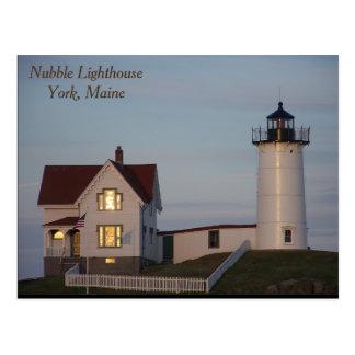 Cartão Postal Farol do Nubble, York, Maine