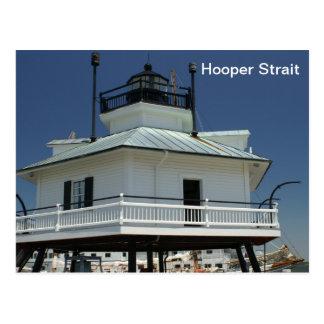 Cartão Postal Farol do passo de Hooper