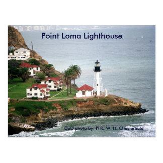 Cartão Postal Farol do Point Loma/San Diego, Califórnia