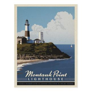Cartão Postal Farol do ponto de Montauk, LongIsland NY