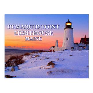 Cartão Postal Farol do ponto de Pemaquid, Maine