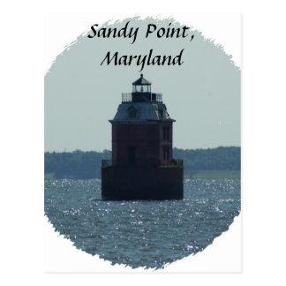 Cartão Postal Farol do ponto de Sandy
