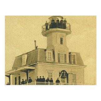 Cartão Postal Farol do porto de Bridgeport