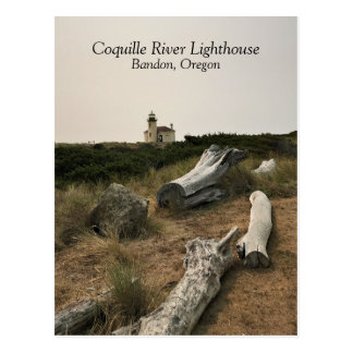 Cartão Postal Farol do rio de Coquille
