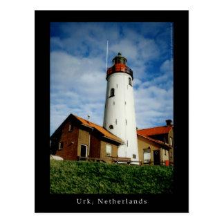 Cartão Postal Farol em Urk, Países Baixos