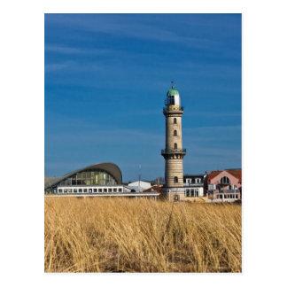 Cartão Postal Farol em Warnemuende (Alemanha)
