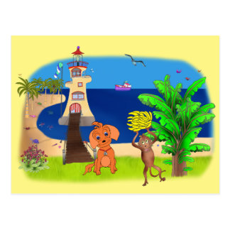 Cartão Postal Farol feliz pelos Feliz Juul Empresa