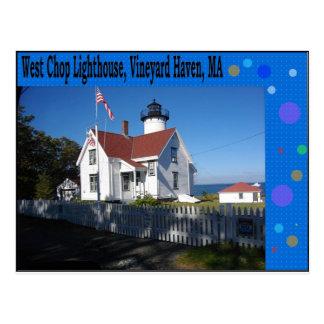 Cartão Postal Farol ocidental da costeleta, abrigo do vinhedo,