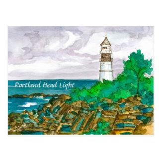 Cartão Postal Farol principal de Portland