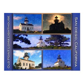 Cartão Postal Farol velho do Point Loma