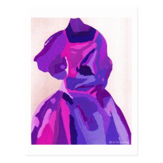 Cartão Postal Fashionista da diva no azul