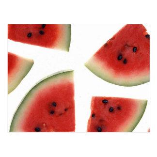 Cartão Postal Fatias de melancia