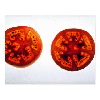 Cartão Postal Fatias suculentas do tomate