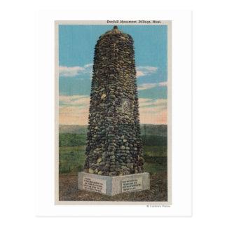 Cartão Postal Faturamentos, TA - vista do monumento de Boothill