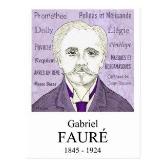 Cartão Postal Fauré