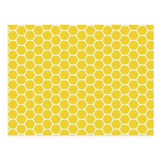 Cartão Postal Favo de mel amarelo