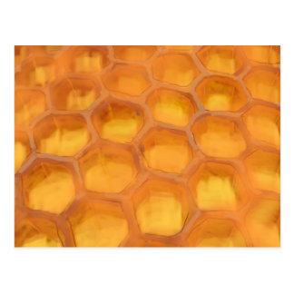 Cartão Postal Favo de mel de Shanah Tovah que tira Rosh feliz