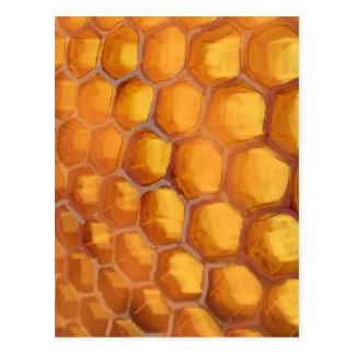 Cartão Postal Favo de mel doce que tira o marrom amarelo