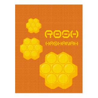 Cartão Postal favos de mel do hashanah do rosh