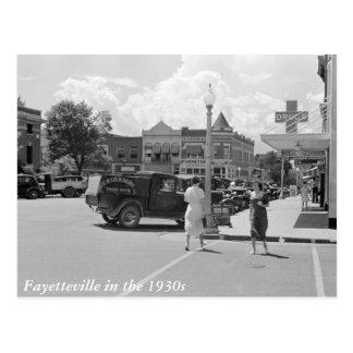 Cartão Postal Fayetteville, Arkansas, os anos 30